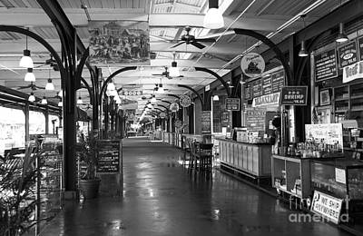 Photograph - Choices At The French Market Mono by John Rizzuto