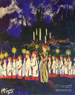 Painting - Choir Boys by Stefan Duncan