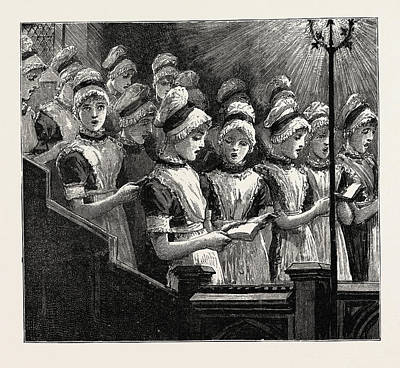 Bloomsbury Drawing - Choir Of The French Church Of The Savoy by English School