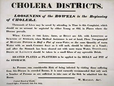 Cholera Bill 1832 Art Print