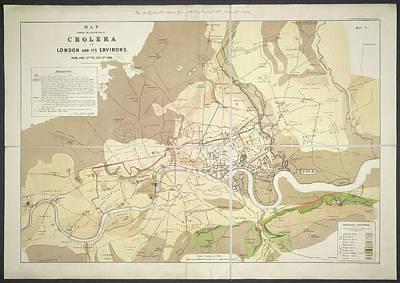 Cholera Map Art Print by British Library
