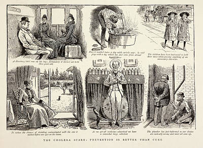 Cholera Prevention Methods Print by British Library