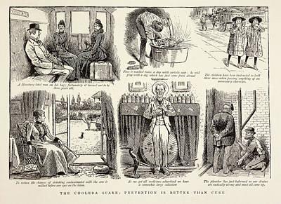 Cholera Prevention Methods Art Print by British Library