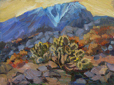 Painting - Cholla And Mt. San Jacinto by Diane McClary