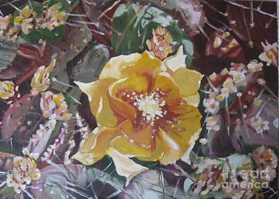 Cholla Flowers Art Print by Julie Todd-Cundiff