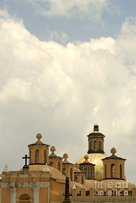 Photograph - Cholula Domes Mexico by John  Mitchell