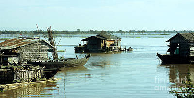 Photograph - Chong Kneas Floating Village by Rick Piper Photography