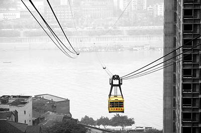 Photograph - Chongqing Cable Car by Valentino Visentini