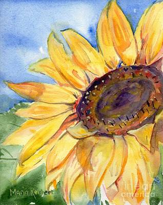 Choosing Painting - Choose To Shine by Maria's Watercolor