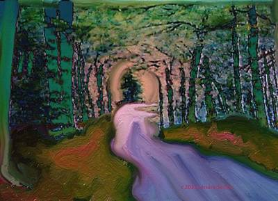 Impressionist Mixed Media - Choosing My Own Road by Lenore Senior