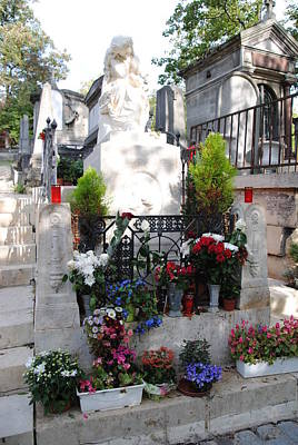 Chopin's Gravesite At Pere Lachaise Cemetery Art Print by Jacqueline M Lewis