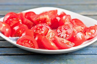Chopped Tomatoes Art Print