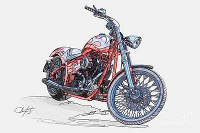 Chopper Illustration IIi Art Print by Dave Koontz