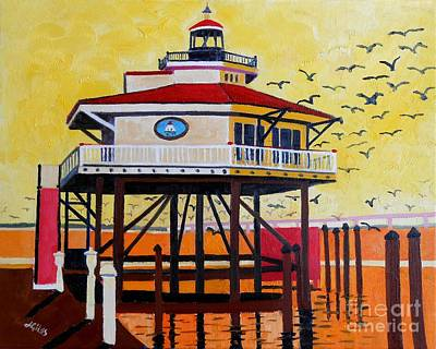 Choptank River Lighthouse Art Print by Lesley Giles