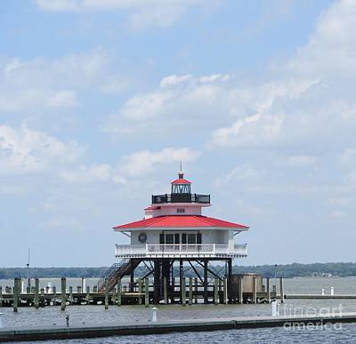 Photograph - Choptank River Lighthouse On The Chesapeake Bay In Cambridge by Debbie Nester