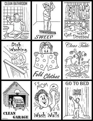 Art Print featuring the digital art Chore Chart 4 by Cristophers Dream Artistry