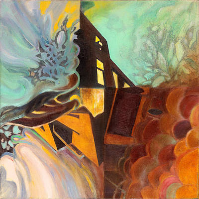 Montreal Buildings Painting - Choreography Nocturnal Out by Constance Beaulieu