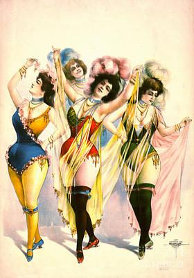 Chorus Girls 1899 Art Print