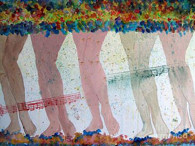 Painting - Chorus Line by Sandy McIntire