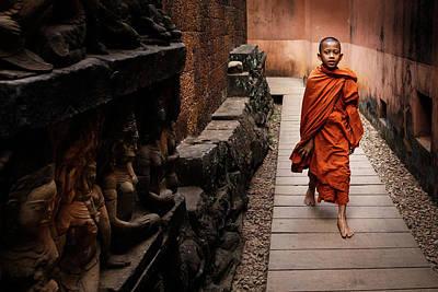Cambodia Photograph - Chosen Path by Ali Khataw