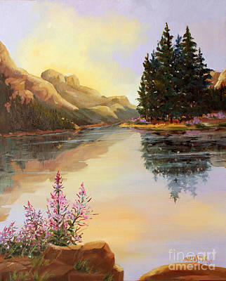 Painting - Chost Island In Morning Colors by Marta Styk