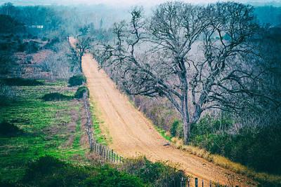 Chovanec Road Take Me Home - Ellinger Texas Art Print by Silvio Ligutti