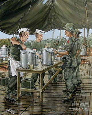 Painting - Chow Time On The Dmz by Bob  George