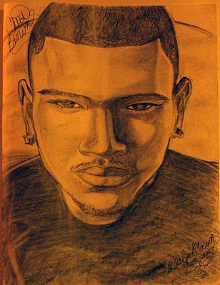 Chris Brown Art Print