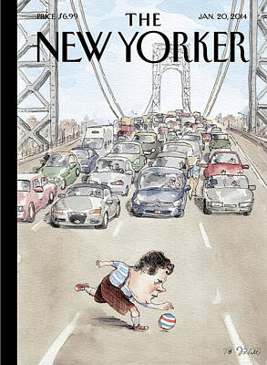Traffic Painting - Chris Christie Plays With A Ball On The George by Barry Blitt