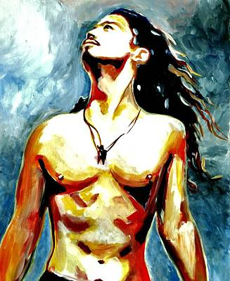 Soundgarden Painting - Chris Cornell by Angie  Potter