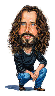Musicians Royalty-Free and Rights-Managed Images - Chris Cornell by Art