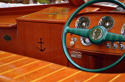Photograph - Chris Craft Cockpit by Michelle Calkins