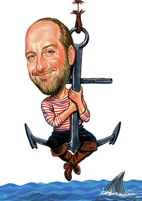 Letterman Painting - Chris Elliott by Art