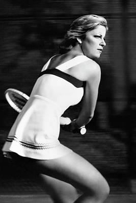 Fitness Model Photograph - Chris Evert Playing Tennis by Stan Malinowski