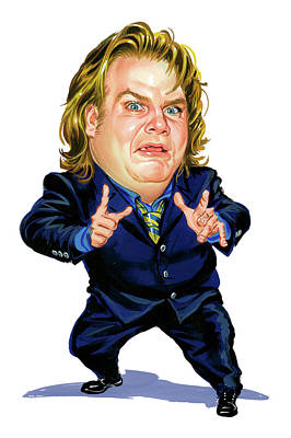 Laugh Painting - Chris Farley by Art