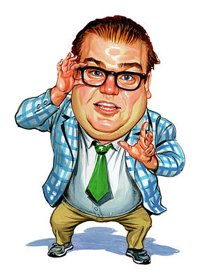 Famous People Painting - Chris Farley As Matt Foley by Art