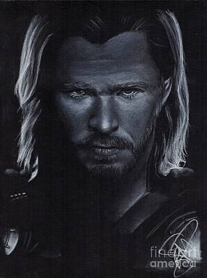 Drawing - Chris Hemsworth by Rosalinda Markle