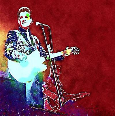 Massey Hall Wall Art - Painting - Chris Isaak 11 by Nicola Andrews