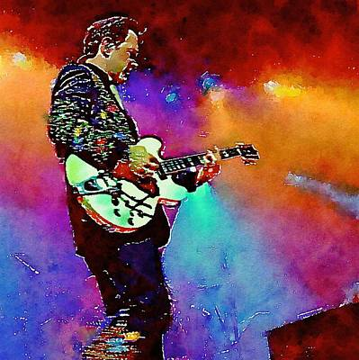 Massey Hall Wall Art - Painting - Chris Isaak 12 by Nicola Andrews