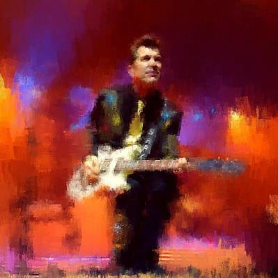 Massey Hall Wall Art - Painting - Chris Isaak 14 by Nicola Andrews