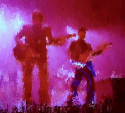 Massey Hall Wall Art - Painting - Chris Isaak 17 by Nicola Andrews