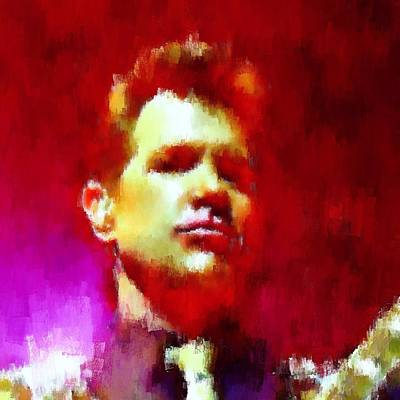 Massey Hall Wall Art - Painting - Chris Isaak 19 by Nicola Andrews