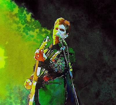 Massey Hall Wall Art - Painting - Chris Isaak 2 by Nicola Andrews