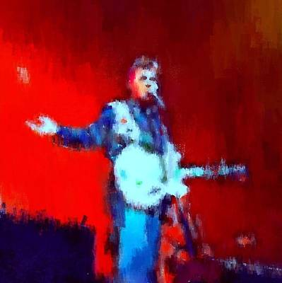 Massey Hall Wall Art - Painting - Chris Isaak 7 by Nicola Andrews