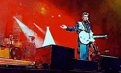 Massey Hall Wall Art - Painting - Chris Isaak 8 by Nicola Andrews