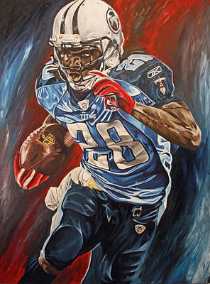 2000 Yards Painting - Chris Johnson 2010 by David Courson