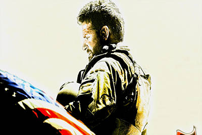 Iraq Mixed Media - Chris Kyle by Brian Reaves