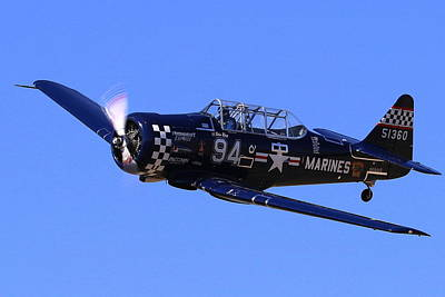 Photograph - Chris Lefave In His North American Snj-4 Midnight Express At Reno Air Races  by John King
