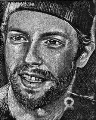 Coldplay Drawing - Chris Martin - Coldplay by Daliana Pacuraru
