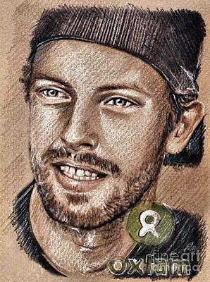 Coldplay Drawing - Chris Martin by Daliana Pacuraru